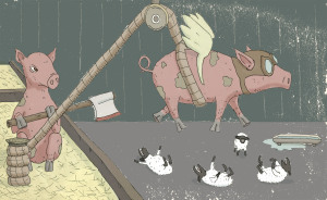 P is for Pigs Who Might Fly