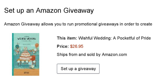 Amazon Giveaway Set Up