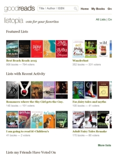Goodreads Listopia Feature List