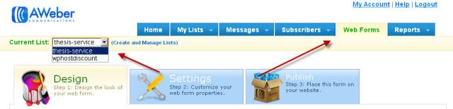 Aweber Mailing List
