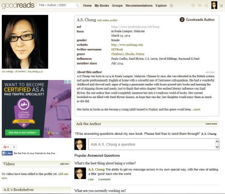 A.S. Chung Goodreads Author Page